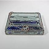 Mustangs, Wild Horses, Equine Stained Glass Jewelry Box, Presentation Box, Keepsake Box, Glass Jewels, Swarovski Crystals, USA Made