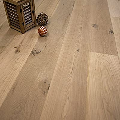 "Wide Plank 7 1/2"" x 5/8"" European French Oak Unfinished Wood Flooring Sample at Discount Prices by Hurst Hardwoods"