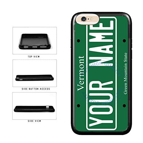 BleuReign(TM) Personalized Custom Name Vermont State License Plate TPU RUBBER SILICONE Phone Case Back Cover For Apple iPhone 6 6s (4.7 Inches Screen)