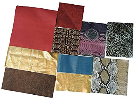Springfield Leather Company's Printed and Embossed Leather Scraps (1lbs small pieces) 4336862194