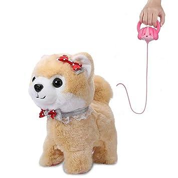 Shinehalo Hablar Caminar ladrido perro de peluche perrito de juguete para mascotas perro eléctrico Dog Juguetes