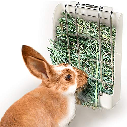 (zswell Hay Feeder Rack - Hay Feeder Manger Rack for Rabbit Guinea Pig Chinchilla and Other Small Animals (White))