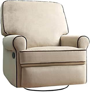 pulaski birch hill swivel glider recliner doe with coffee piping
