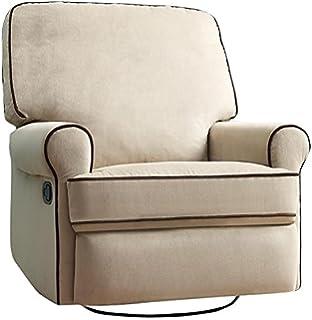 amazon com pulaski sutton swivel glider recliner zen grey with