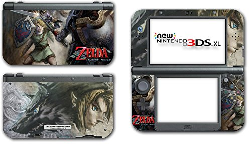 (Legend of Zelda Link Twilight Princess Wolf Video Game Vinyl Decal Skin Sticker Cover for the New Nintendo 3DS XL LL 2015 System Console)