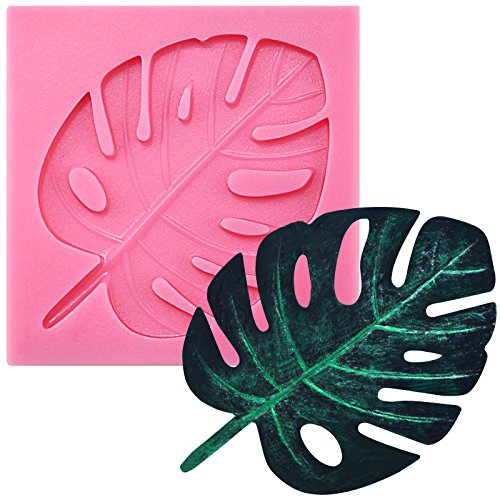 - Funshowcase Tropical Palm Leaf Beach Holiday Beach Party Fondant Silicone Mold for Sugarcraft, Cupcake Topper, Jewelry Making, Polymer Clay Crafting Projects
