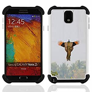 For Samsung Galaxy Note3 N9000 N9008V N9009 - bird flying spring hunting nature wings Dual Layer caso de Shell HUELGA Impacto pata de cabra con im????genes gr????ficas Steam - Funny Shop -