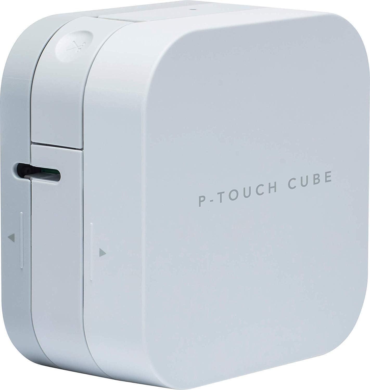 Brother P-Touch Cube PT-P300BT Etichettatrice con Connettivit/à Bluetooth e Compatibilit/à MFi Nastro TZE131 Taglierina Manuale Smartphone e Tablet iOS e Android fino a 12 mm Bianco
