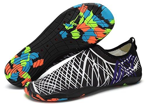 Hombres Unisex Mujeres Rápido Playa Calcetines Secado Agua Para de Buceo de Blanco Natación Zapatos A Piscina Yoga Surf Eagsouni de Descalzo Calzado AdFw5qzA