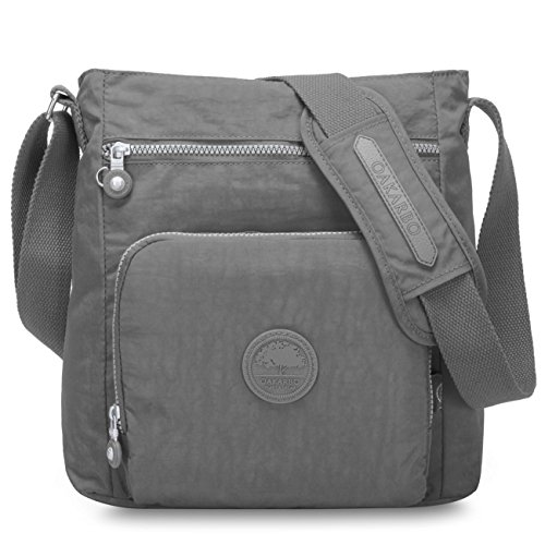 1301 Cool Oakarbo Travel Pocket Nylon Multi Gray Crossbody 1301 Shoulder Bag Bag Gray Cool wrS8z