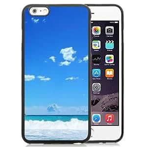 DIY TPU Phone Case Splashing Beach Waves Illustration iPhone 6 Plus 5.5 inch Wallpaper