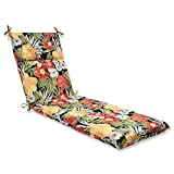 Cheap Pillow Perfect Outdoor Clemens Chaise Lounge Cushion, Noir