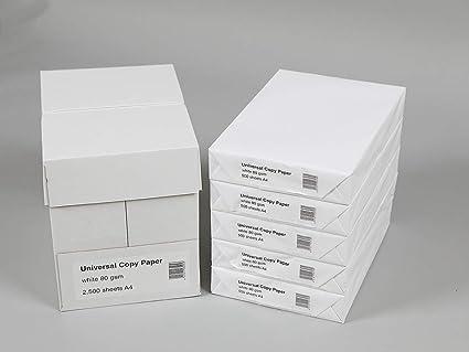 Folios Premium papel de impresión de alta calidad DIN A4 80 g/m2, color blanco puro, 2500-100.000 papel de impresión, color Blanco DIN A4   21,0 cm x 29,7 cm: Amazon.es: Oficina y papelería