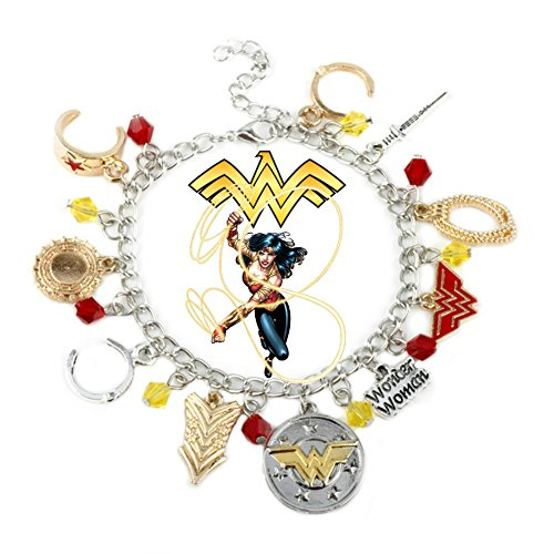 Point Central Collectibles DC Comics Wonder Woman Movie (10 Themed Charms) Charm Bracelet]()