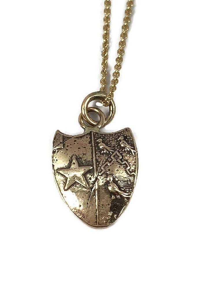 48306801a Amazon.com: Pyrrha Design 14K Yellow Gold Talisman Necklace - Sisterhood:  Jewelry