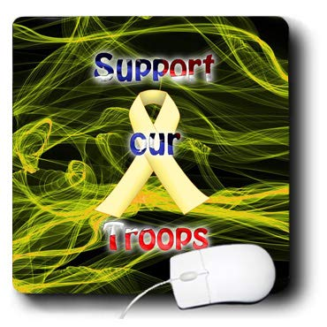 3dRose Edmond Hogge Jr - Health - Support Our Troops Yellow Ribbon - Mousepad (mp_214688_1) (Yellow Ribbon Mouse Pad)