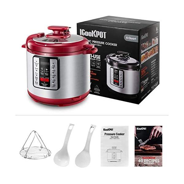 Electric Pressure Cooker ICOOKPOT 9-in-1 Multi- Use Programmable Smart Pressure Cooker, Slow Cooker, Yogurt Maker, Rice… 2