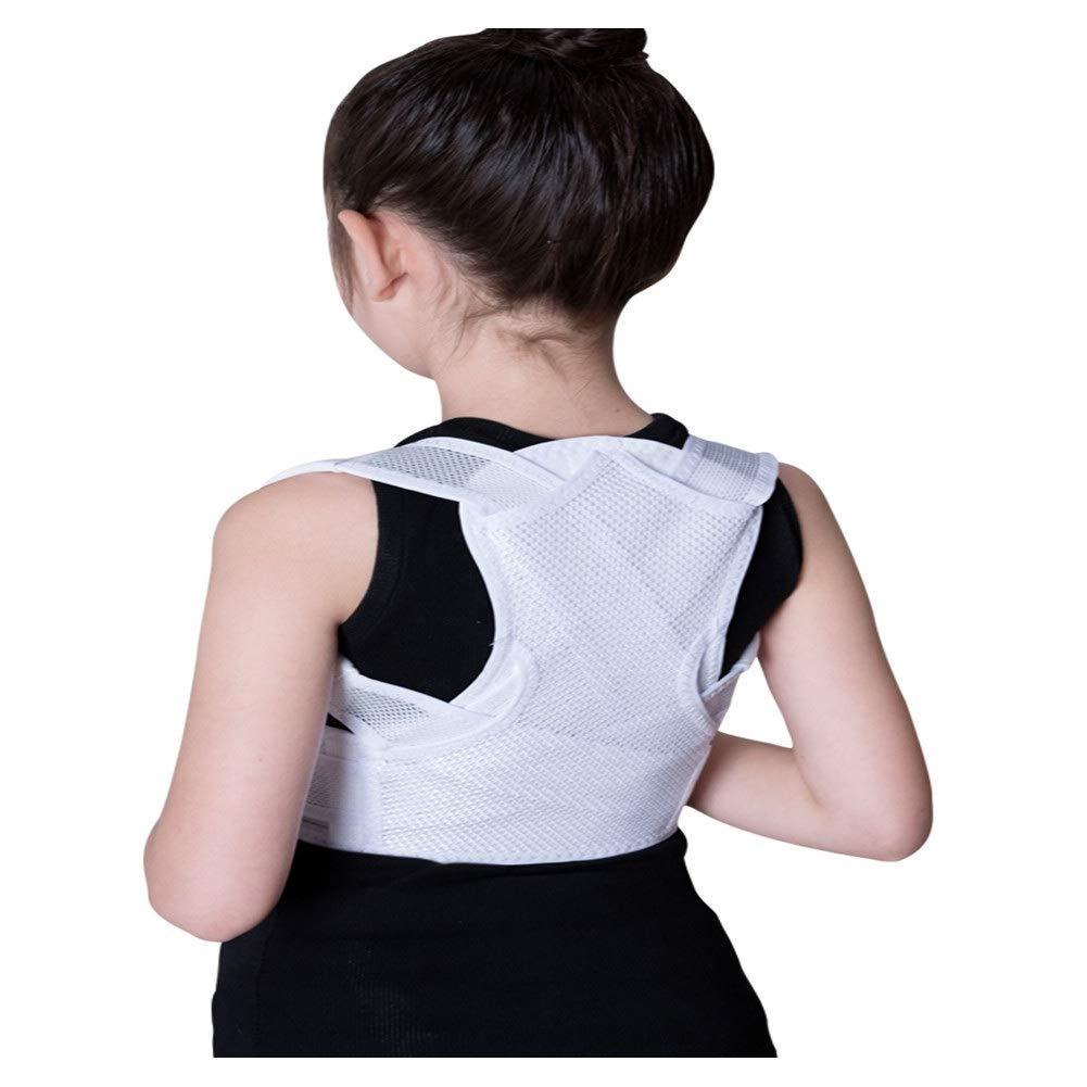 Corrector de postura Adult Children Posture Corrector, Shape The Perfect Body Ergonomic Design Support Brace for Back Shoulder Neck Pain Relief Clavicle (Color : White, Size : L72-84cm)