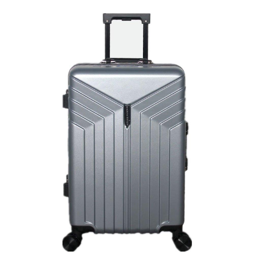 旅行用品荷物スーツケーストロリーケース プレミアム回転アルミフレームハードボックストラベルボックスPCプルロッドボックスユニバーサルホイール荷物コンパートメント (サイズ : 24) B07SD9X2VR  24