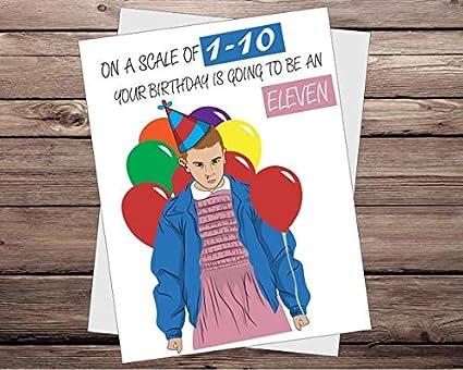 Tarjeta de cumpleaños de Stranger Things: Amazon.es: Oficina ...