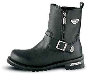 Milwaukee Motorcycle Clothing Company Mens Afterburner Boots (Black, Size 11)