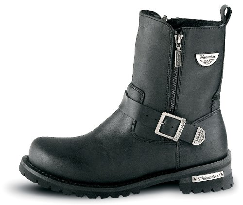 Milwaukee Motorcycle Clothing Company Mens Afterburner Boots (Black, Size 8)