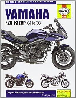 buy yamaha fz 6 fazer service and repair manual 2004 to 2007 rh amazon in Yamaha FZS Waverunner yamaha fzs service manual pdf