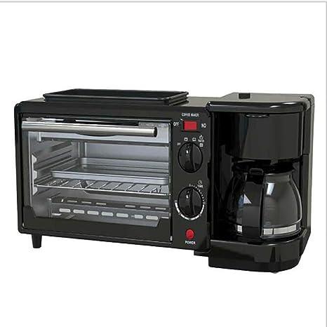ZUEN Máquina de Desayuno 3 en 1 cafetera 600w + 750w Teppanyaki + ...