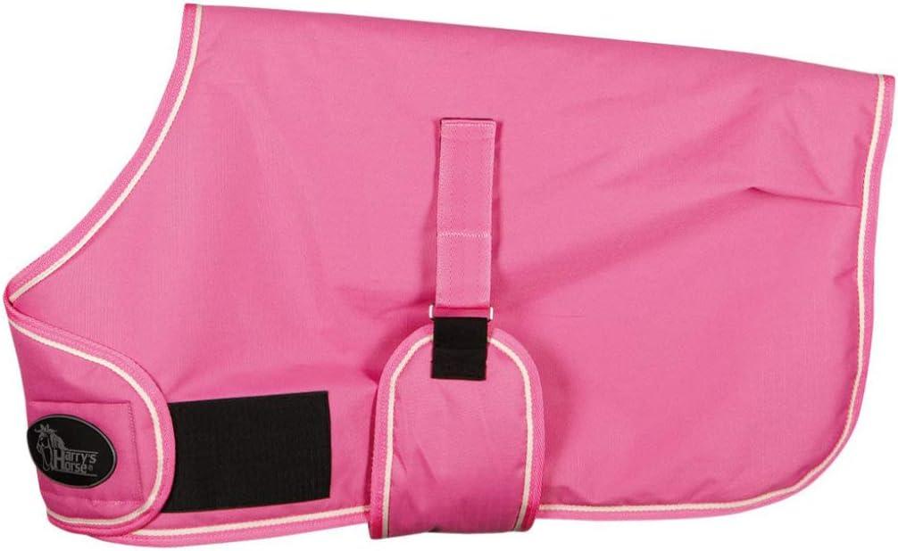 Reitsport Amesbichler Harry's Horse - Manta para Caballo (con Banda de Velcro Ajustable, sin Costuras, Impermeable, Transpirable), Color Rosa