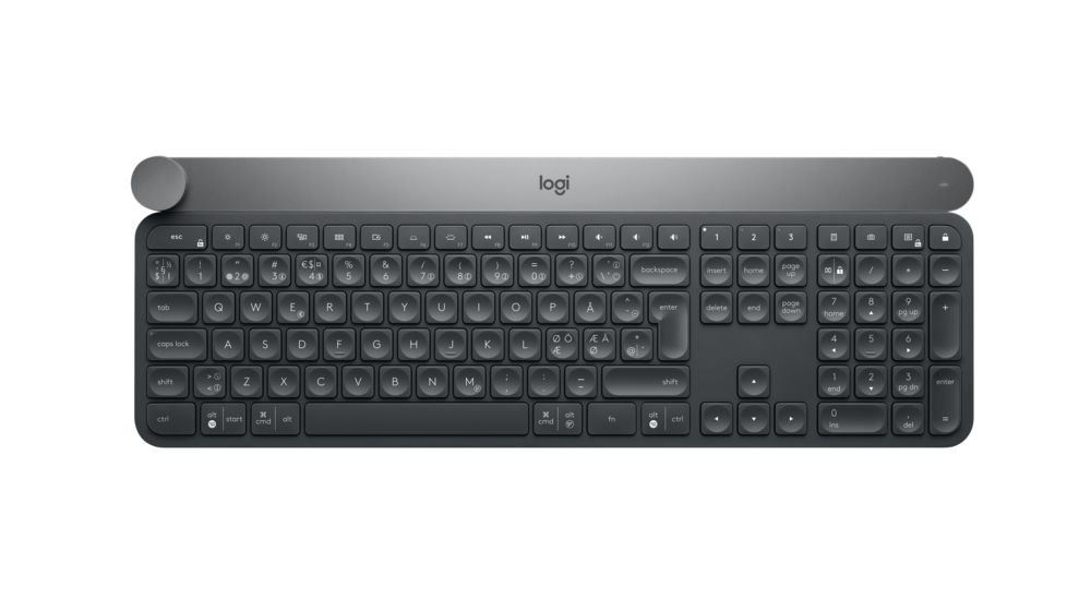 Logitech Craft Wireless Keyboard For Windows, Mac With Creative Input Dial For Productive And Creative Control, Uk Layout by Amazon