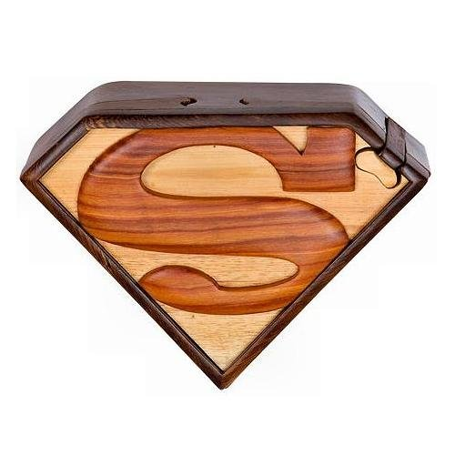 (The Handcrafted Superman Wood Puzzle Box)