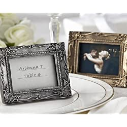 Work of Art Antique-Finish Place Card Holder Photo Frame - Antique-gold finish [SET OF 12]