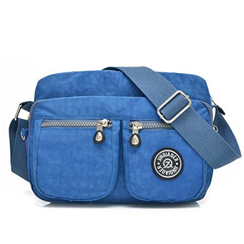 with Ocean Shoulder Bag Compact Waterproof Bag Tiny Nylon Lightweight Blue Chou Messenger Pockets Crossbody pAnH7R
