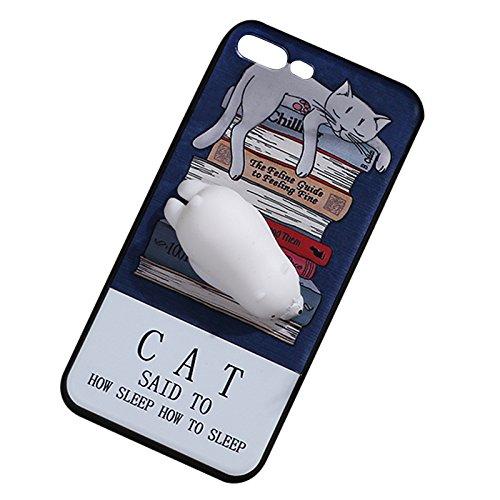 Pinzhi Netter Karikatur Telefon Kasten für iPhone 6, iPhone 6s 3D Nettes Weiches Silikon Pappy Squishy Eisbär Modell