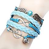 Wild Wind Angels Demons Three-Tone Style Multi-Strand Wrap Bracelet