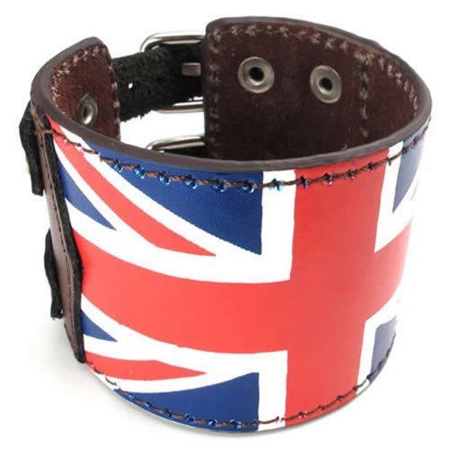 KONOV Leather Rubber Bangle Bracelet