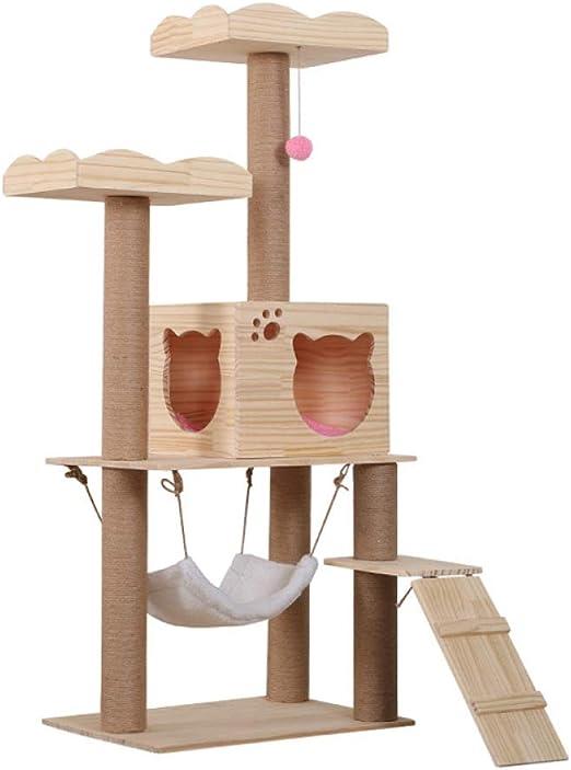LIRUI Árbol para Gato Torre De Escalada 145cm Gris Estable ...