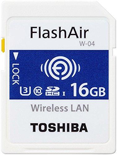 Toshiba FlashAir W-04 16 GB SDHC Class 10 Memory - Camera Sd Card Wifi
