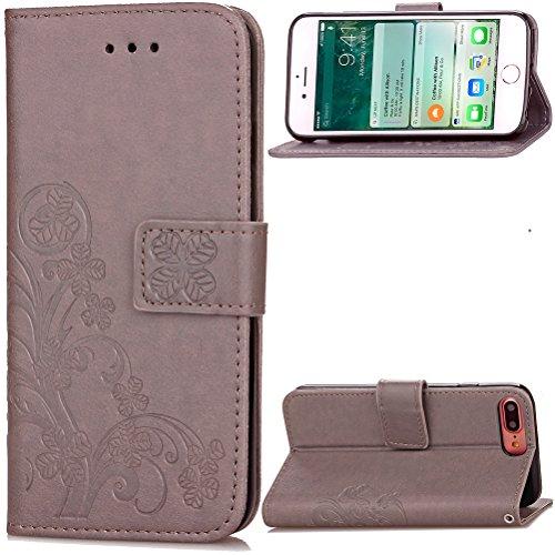 Funda Libro para iPhone 7 Plus,Manyip Suave PU Leather Cuero Con Flip Cover, Cierre Magnético, Función de Soporte,Billetera Case con Tapa para Tarjetas, Funda iPhone 7 Plus F