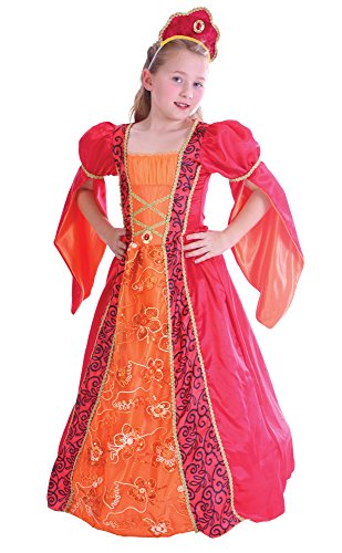 Bristol Novelty CC222 Princess Deluxe Dress (Small), Approx Age 3 -5 Years, Princess Deluxe -