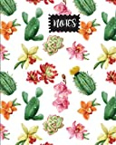 "Notes: Tropical Cactus Journal, size 8"" x 10"" , Ruled Journal With Cute Journal Design (Cute College Journal) (Volume 4)"