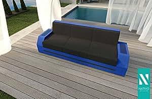 Alta calidad ratán Lounge Diseñador Sofá Clermont 3plazas V2Nativo©