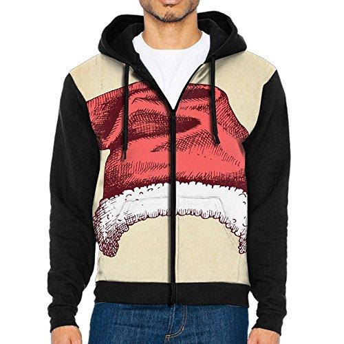 LANOMY Christmas Hat Men's Hooded Sweatshirts Casual Hoodies
