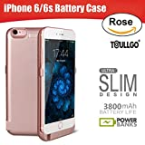 iPhone 6s Battery Case, iPhone 6 Battery Case, ToullGo 3800mAh Ultra-slim Portable Battery Charger Power Bank Case for iPhone 6 / 6s [No Signal Reduction] 4.7