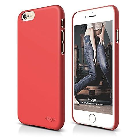 iPhone 6S Plus Case, elago [Slim Fit 2][Soft Feel Italian Rose] - [Light][Minimalistic][True Fit] - for iPhone 6 Plus/6S (Phone Covers For Iphone 6 Elago)