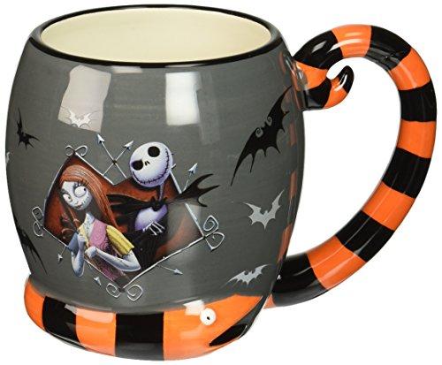 Westland Giftware Ceramic Mug, Jack and Sally, 16 oz, Multicolor