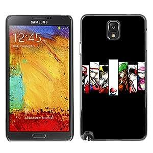 Caucho caso de Shell duro de la cubierta de accesorios de protección BY RAYDREAMMM - Samsung Note 3 N9000 - Héroes P0kemon