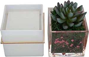 Big DIY Square Resin Plant Mold, Cube Silicone Molds, DIY Flower Pot Molds, Planter Pot Mold, Pen Holder molds