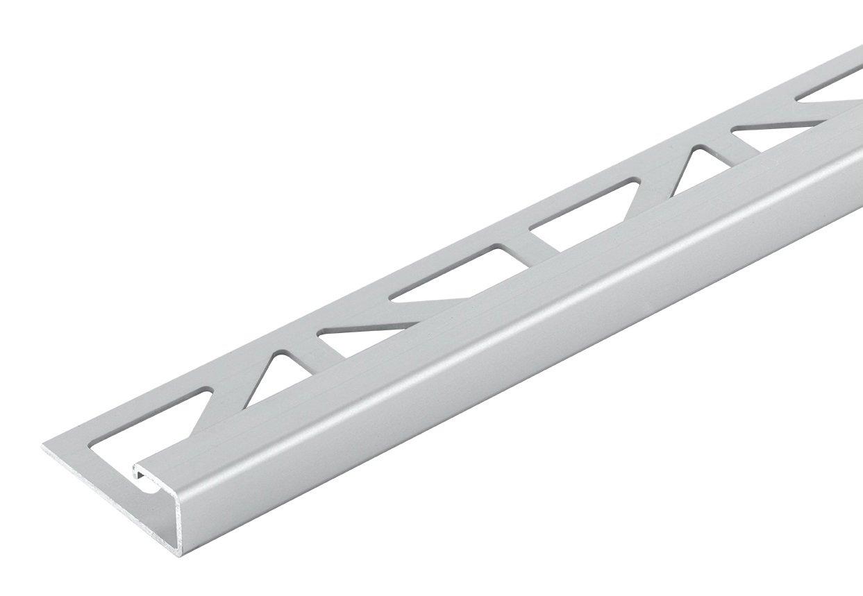 Fliesenschiene Aluminium Eloxiert Quadratprofil Abschlussprofil 11mm//2500mm