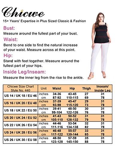 Moderna Di Serie Curvy Indaco Pantaloni Jeans Allungare fit Chicwe Forti Taglie Donna Denim qngwSPPB